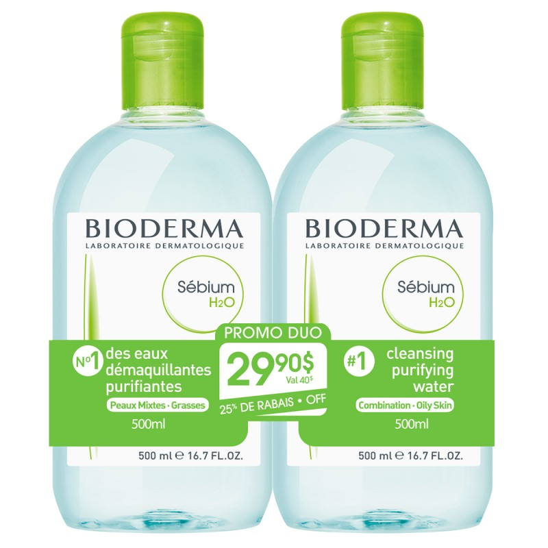 Bioderma Sebium H2O Duo - 2x500ml