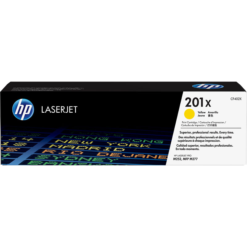 HP 201X High Yield Original LaserJet Toner Cartridge - Yellow - CF402X