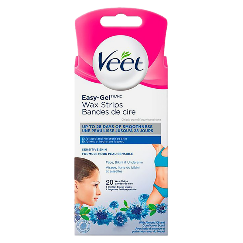 Veet Facial Ready To Use Wax Strips 20 S London Drugs