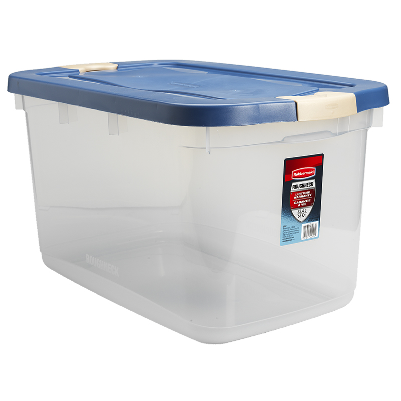 Rubbermaid Roughneck Latch Box - Clear - 62L