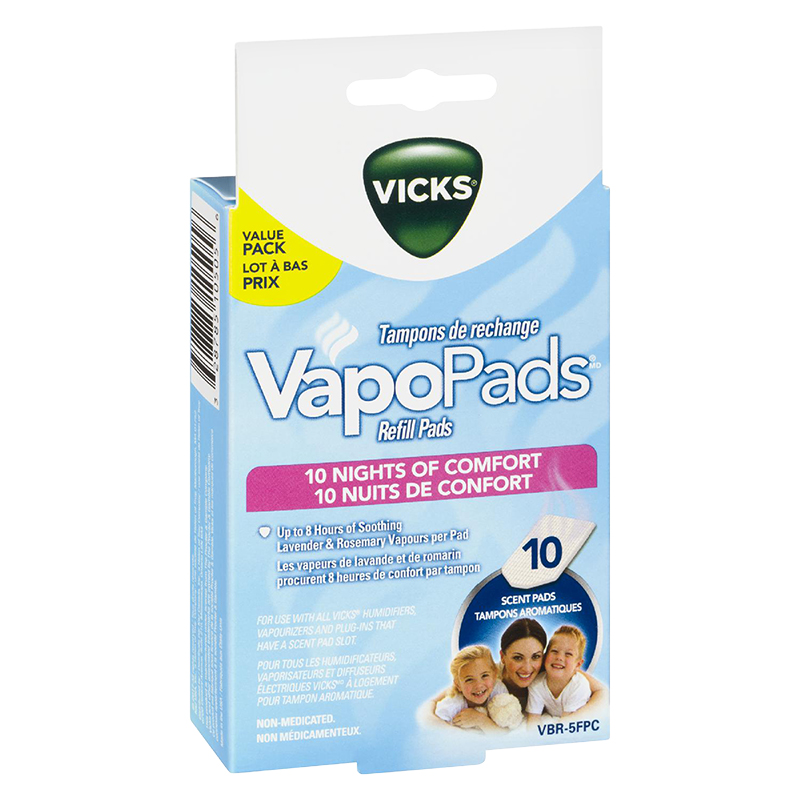 Vicks VapoPads Night Refill Pads - 10s - VBR-5FPC