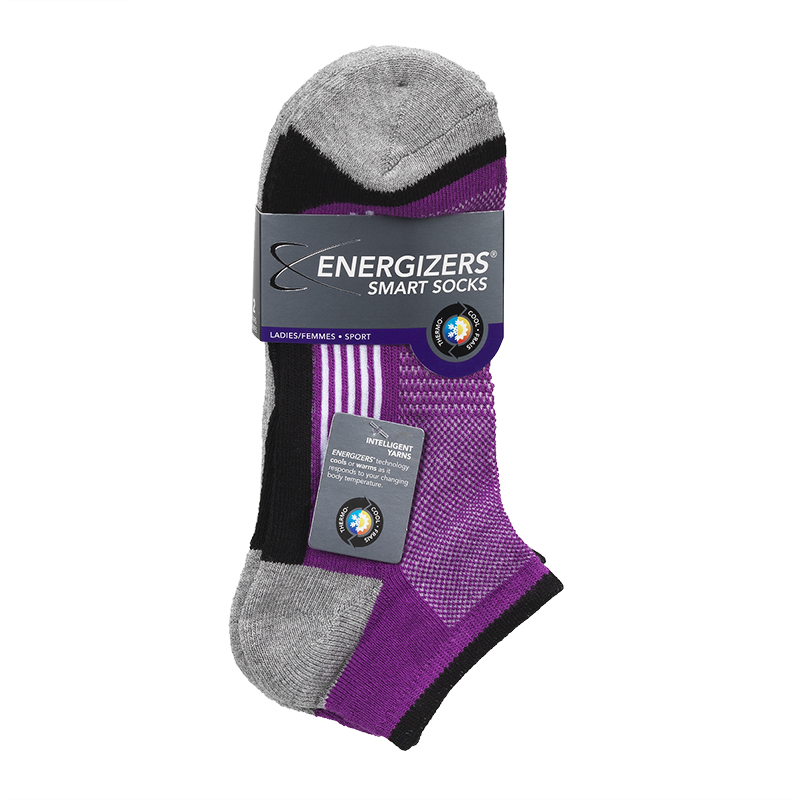 Energizers Ladies Sport Socks - Purple - Sizes 9-11