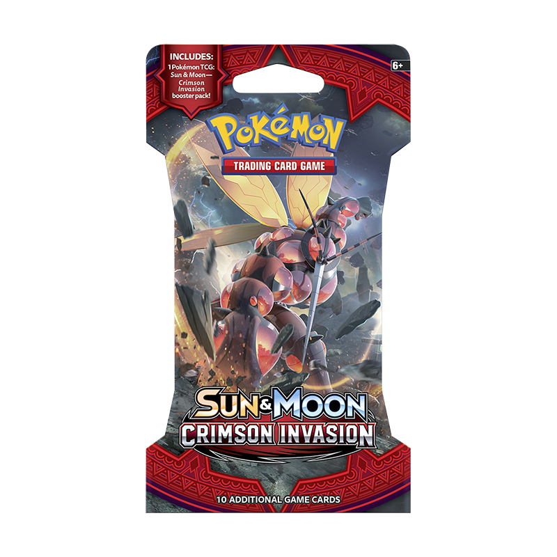 Pokemon Sun Moon 4 Blister Pack - Crimson Invasion