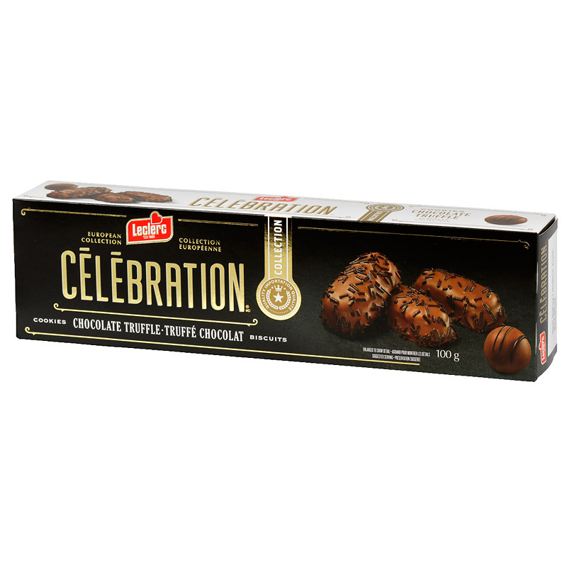 Leclerc Celebration Cookies - Chocolate Truffles - 100g