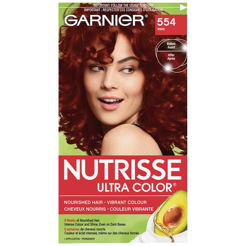 Garnier Nutrisse Ultra Color Permanent Hair Colour - 554 Ronze