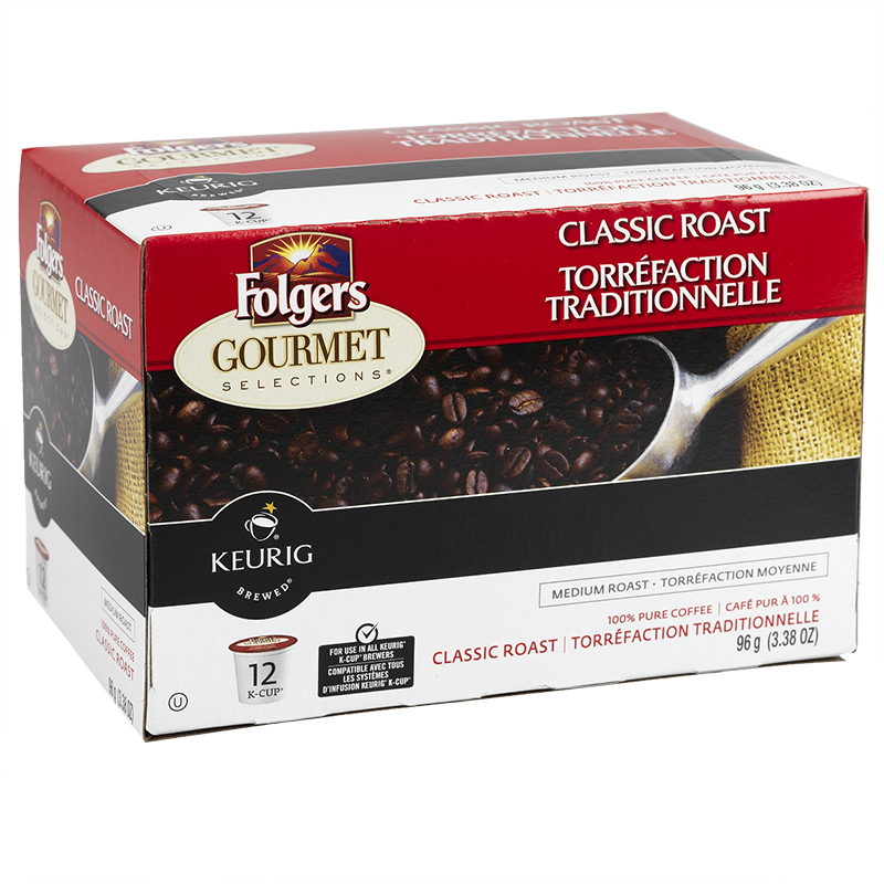K-Cup Folgers Coffee - Classic Roast - 12 Servings