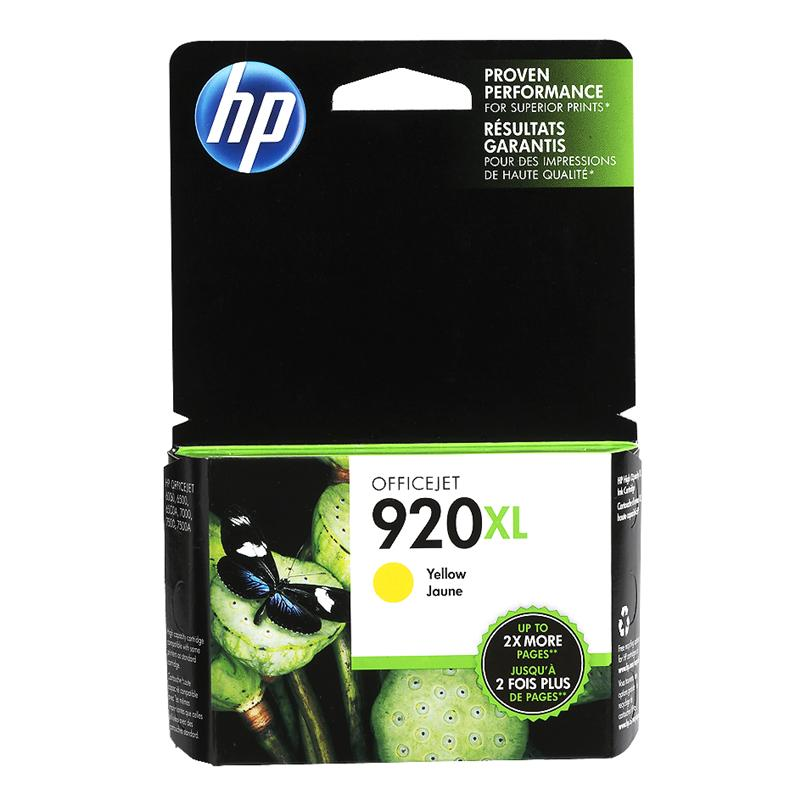 HP 920XL Officejet Ink Cartridge - Yellow - CD974AC140