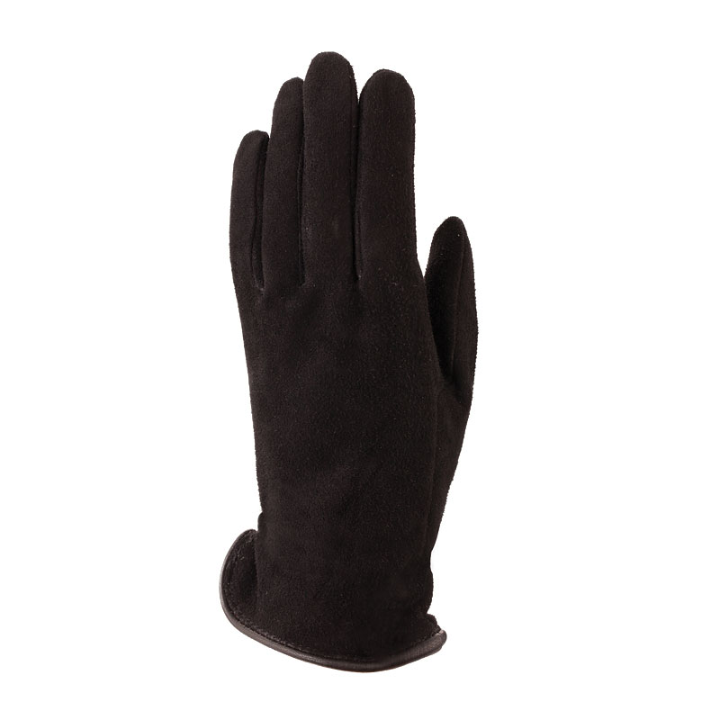 Auclair Deer Suede Gloves - Black - Small