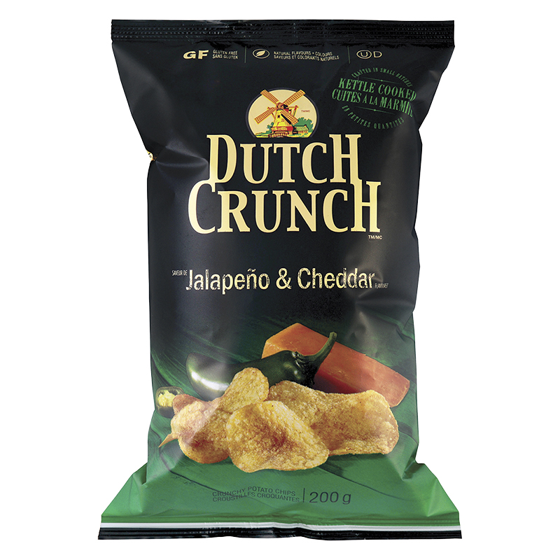 Dutch Crunch Kettle Cooked Potato Chips - Jalapeno & Cheddar - 200g