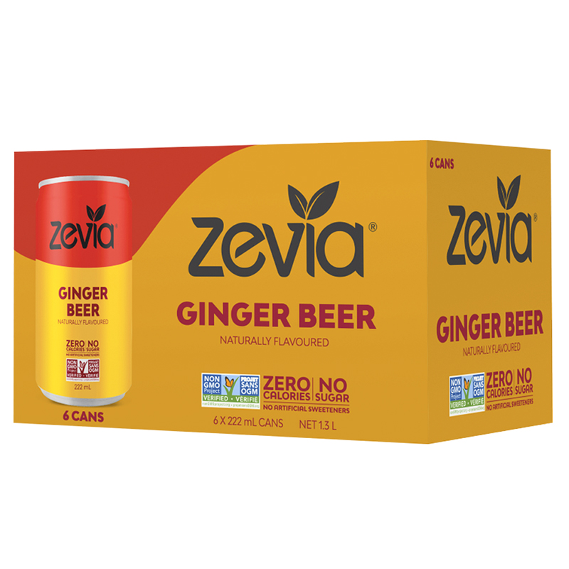 Zevia Mixers - Ginger Beer - 6x222ml