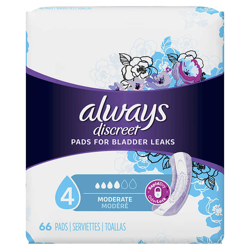 Always Discreet Pads Moderate Regular Length - 66's