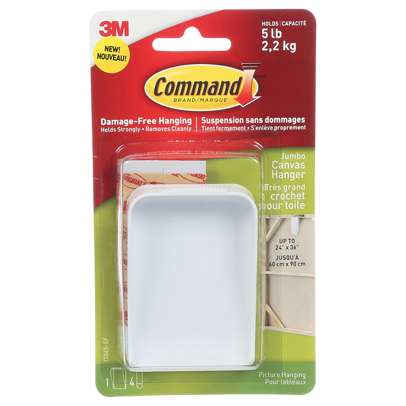 Command™ Jumbo Canvas Hanger - Single