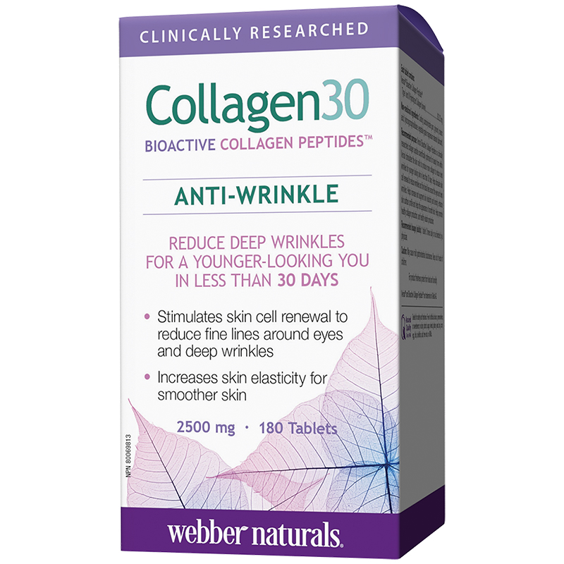 Webber Naturals Collagen30 Anti-Wrinkle - 2500mg - 180's