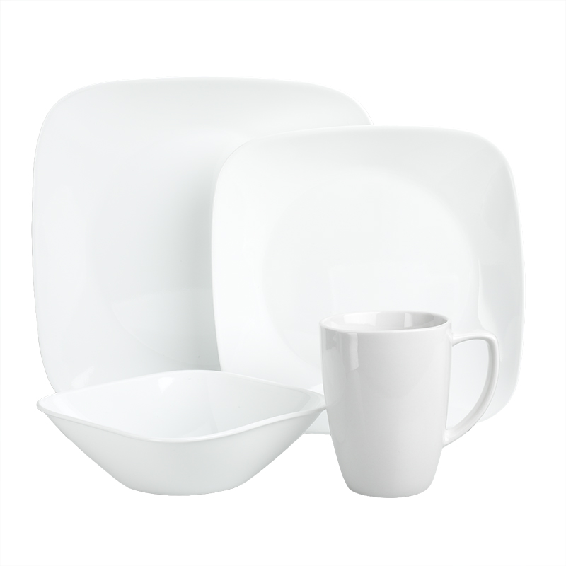 Corelle Square Pure White Dinnerware Set - 16 piece