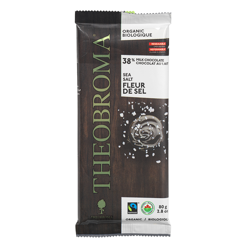 Theobromo 38% Milk Chocolate - Sea Salt - 80g