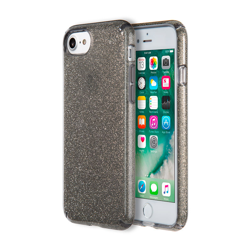 Speck Presidio Clear Glitter for iPhone 7 - Onyx Glitter - SPK799895637