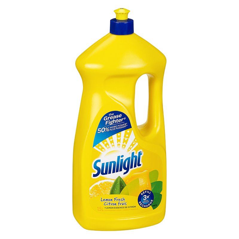 Sunlight Dishwashing Liquid - Lemon - 1.5L