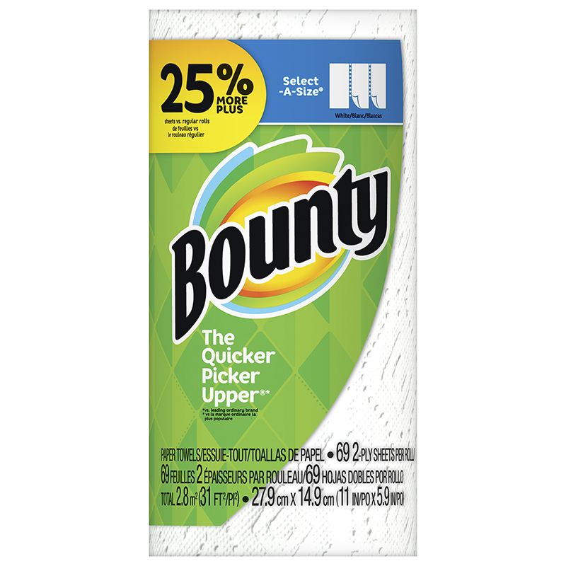 Bounty Paper Towels Select-A-Size - Large Roll - 1's