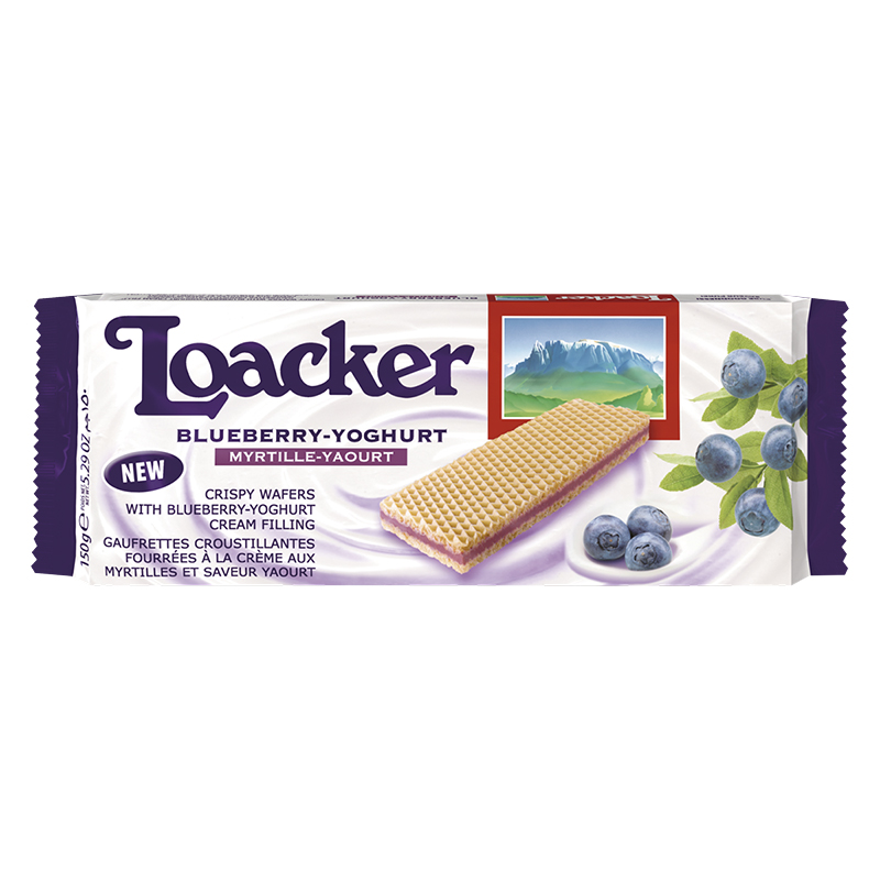 Loacker Wafers - Blueberry Yoghurt - 150g