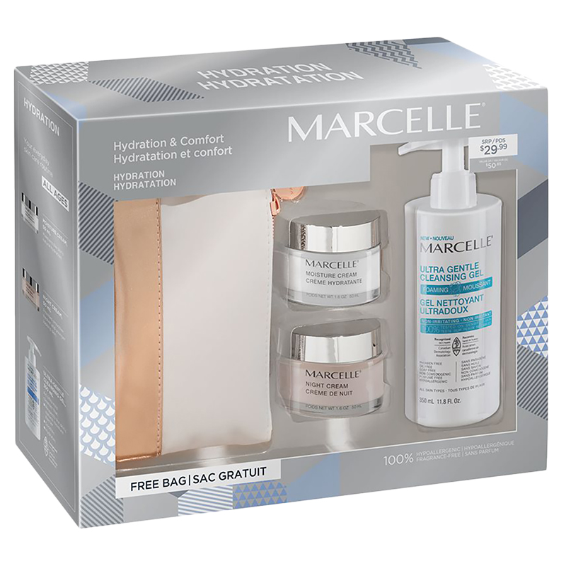 Marcelle Hydration Cosmetic Gift Set - 3 piece