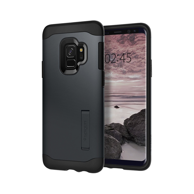 new concept 51ec3 978d6 Spigen Slim Armor Case for Samsung Galaxy S9 - Metal Slate - SGP592CS22879