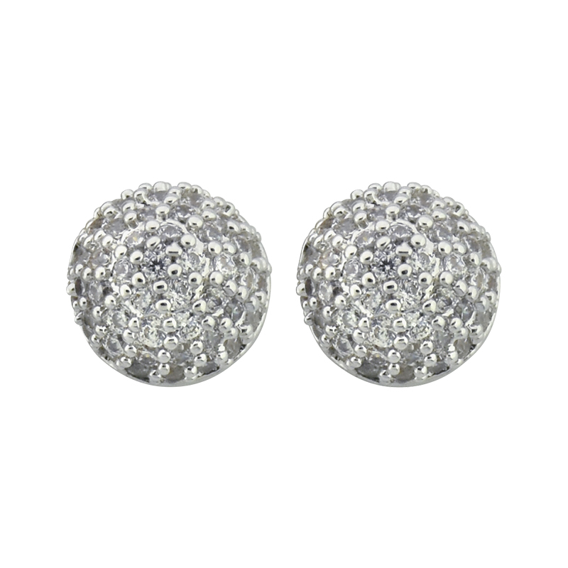 Puccini Cubic Zirconia Pave Ball Earrings