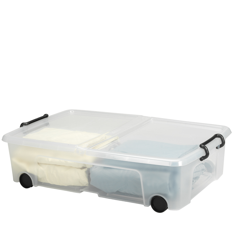Strata Smart Storemaster Under Bed Box with Wheels and Clip Handles - 35L