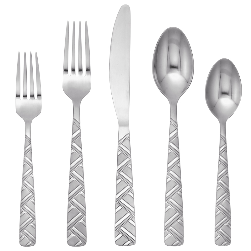 Cambridge Silversmiths Josephine Frost 18/0 Flatware Set - 20 piece
