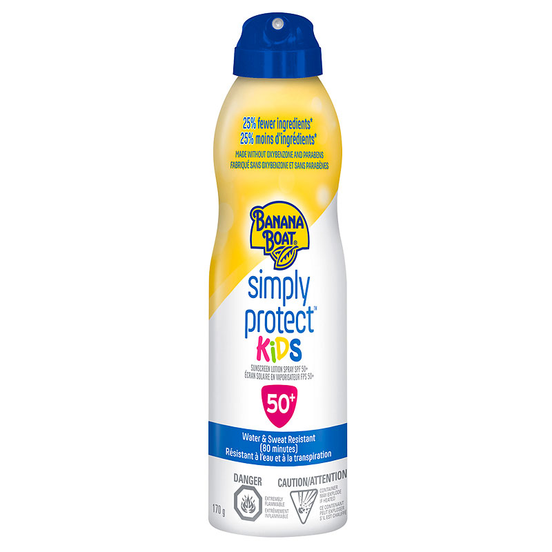 Banana Boat Simply Protect Kids Sunscreen Spray - SPF50+ - 170g