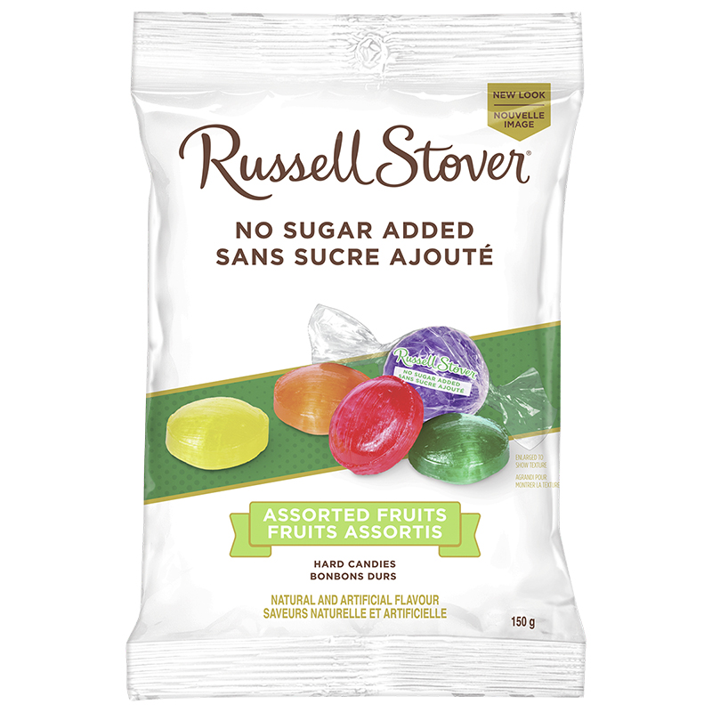 Russell Stover No Sugar Added Hard Candies - Assorted Fruits - 150g