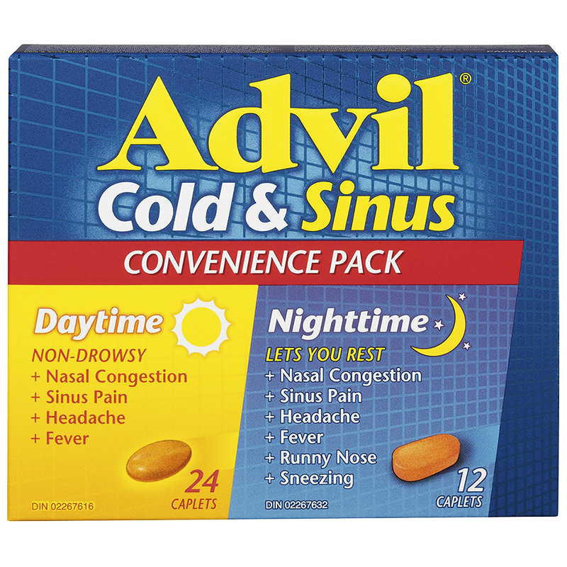 Advil Cold & Sinus Daytime & Nighttime Convenience Pack - 36's