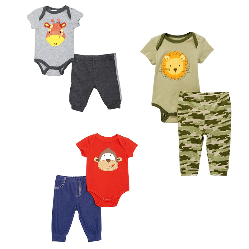 Baby Mode 2-Piece Bodysuit Set - Boys - 0-9 months - Assorted