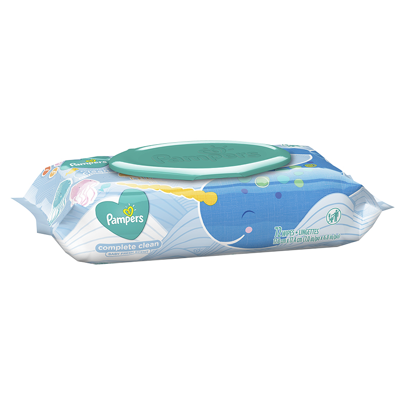 Pampers Wipes Complete Clean - Baby Fresh - Soft Pack 72's