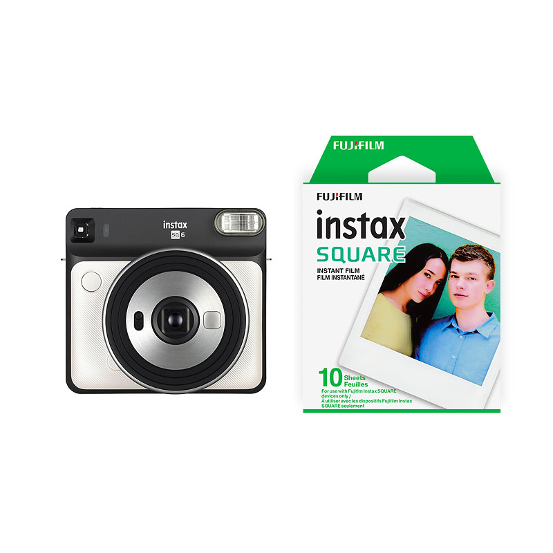 Fujifilm Instax SQUARE SQ6 with Bonus Square Film Pack - Pearl White - PKG #56013
