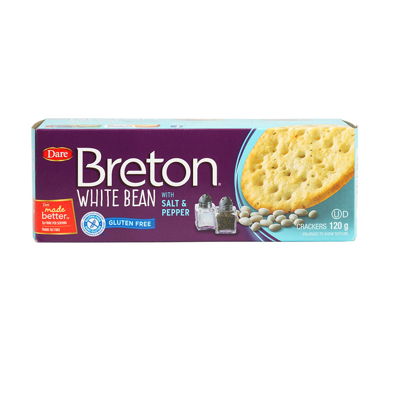 Breton Black Bean Gluten Free Crackers - Salt & Pepper ...