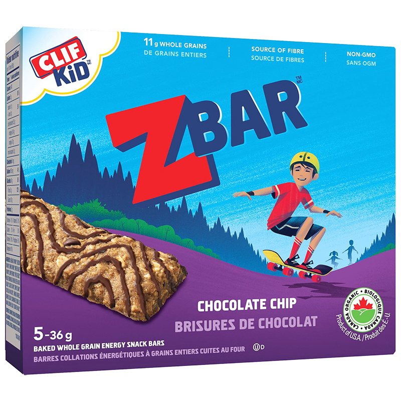 Clif Kid Organic Zbar - Chocolate Chip - 5 pack