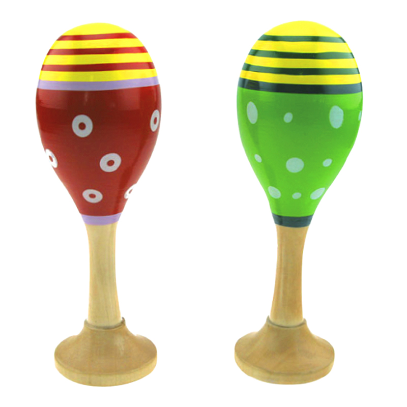 "Mini Wooden Maracas - 5.5"" - Assorted"