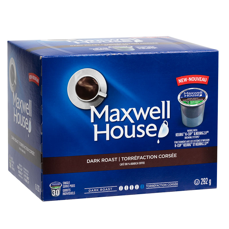 Maxwell House Coffee - Dark Roast - 30 Servings