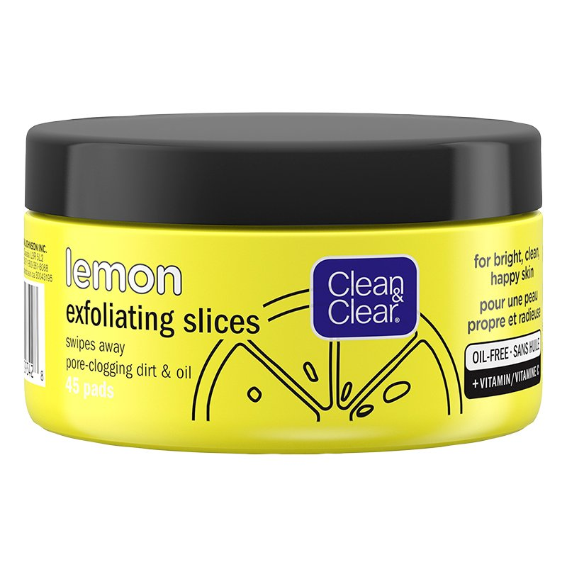 Clean & Clear Lemon Exfoliating Slices - 45's