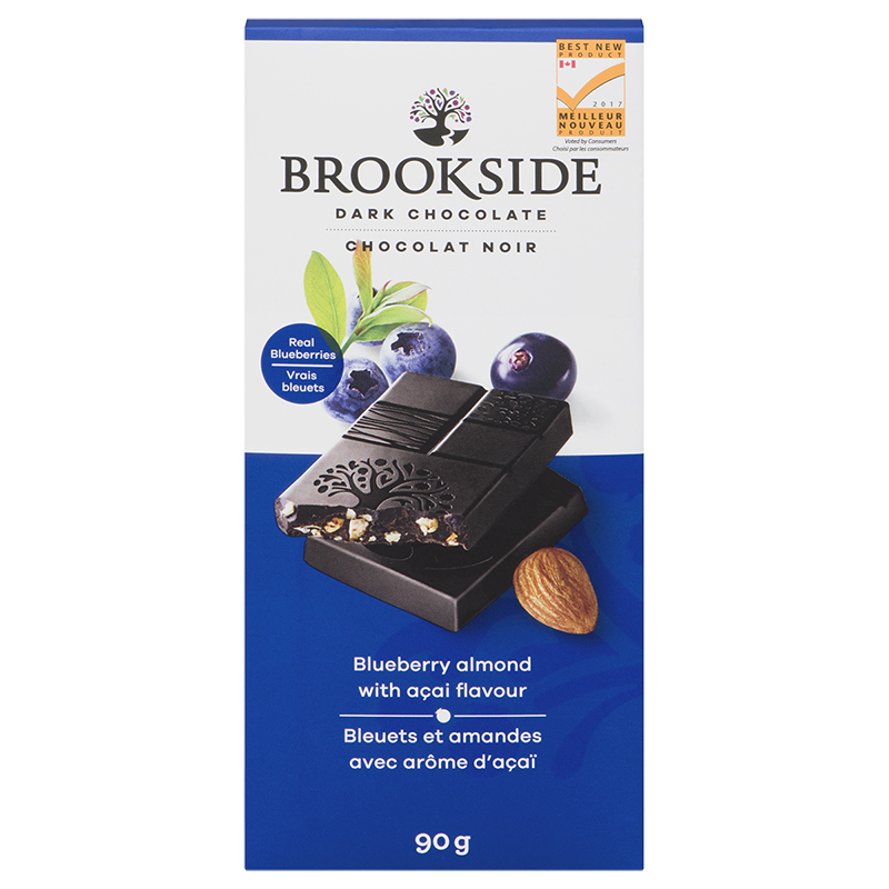 Brookside Dark Chocolate Bar - Blueberry Almond with Acai Flavour - 90g
