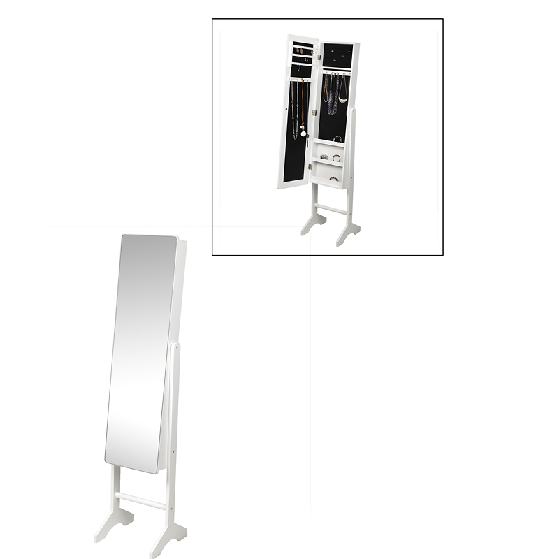 London Drugs Mirror Jewelry Cabinet - White - 35 x 35 x 153cm