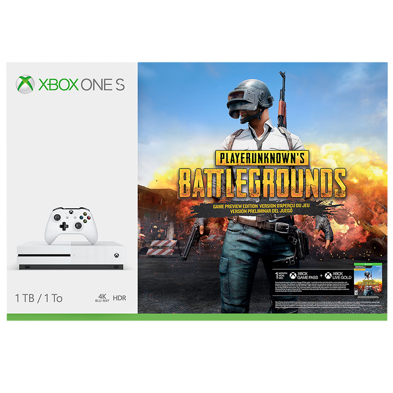 Xbox One S 1TB Hardware Bundle - PlayerUnknown's Battlegrounds