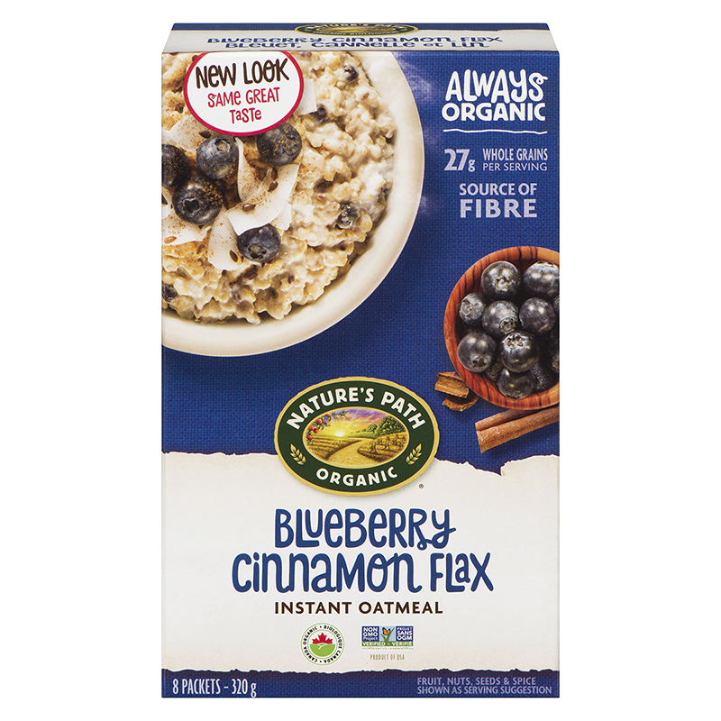 Nature's Path Hot Oatmeal - Blueberry Cinnamon Flax - 320g