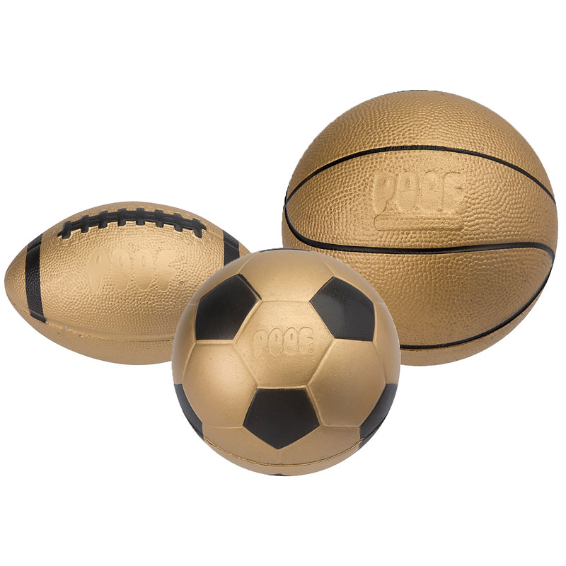 Poof Pro Foam Mini Sports Collection - Gold - Assorted