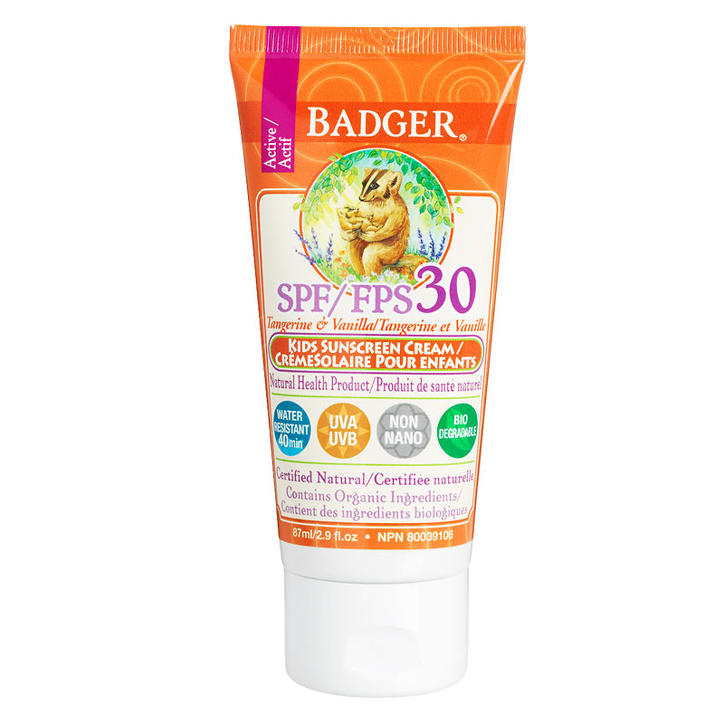 Badger Kids Active Sunscreen Cream SPF 30 - 87ml