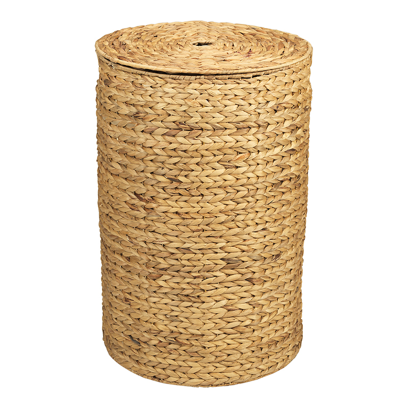 London Drugs Water Hyacinth Cylinder Hamper with Lid