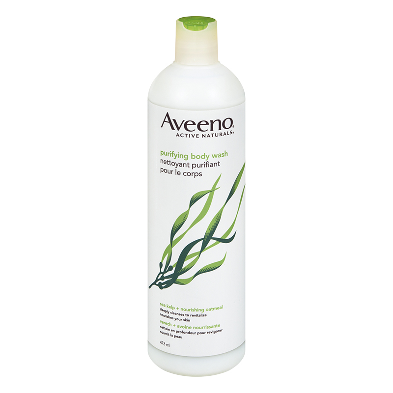 Aveeno Active Naturals Body Wash - Sea Kelp Oatmeal - 473ml