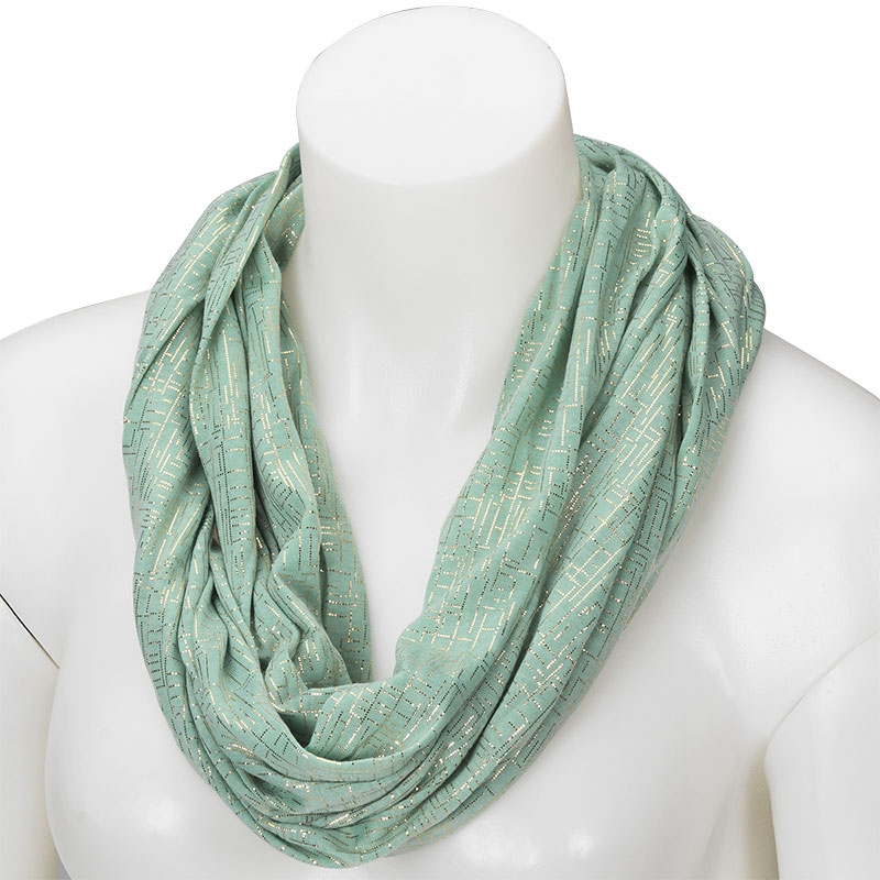 In Style Infinity Scarf - Metallic - Assorted