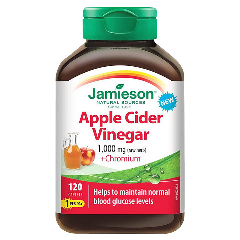 Jamieson Apple Cider Vinegar + Chromium - 120 Caplets