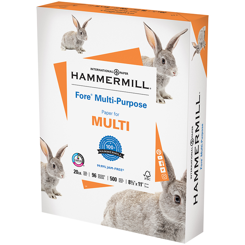HammerMill Fore MP 96 Bright Office Machine Paper - 8.5 x 11 inch - 500 Sheets